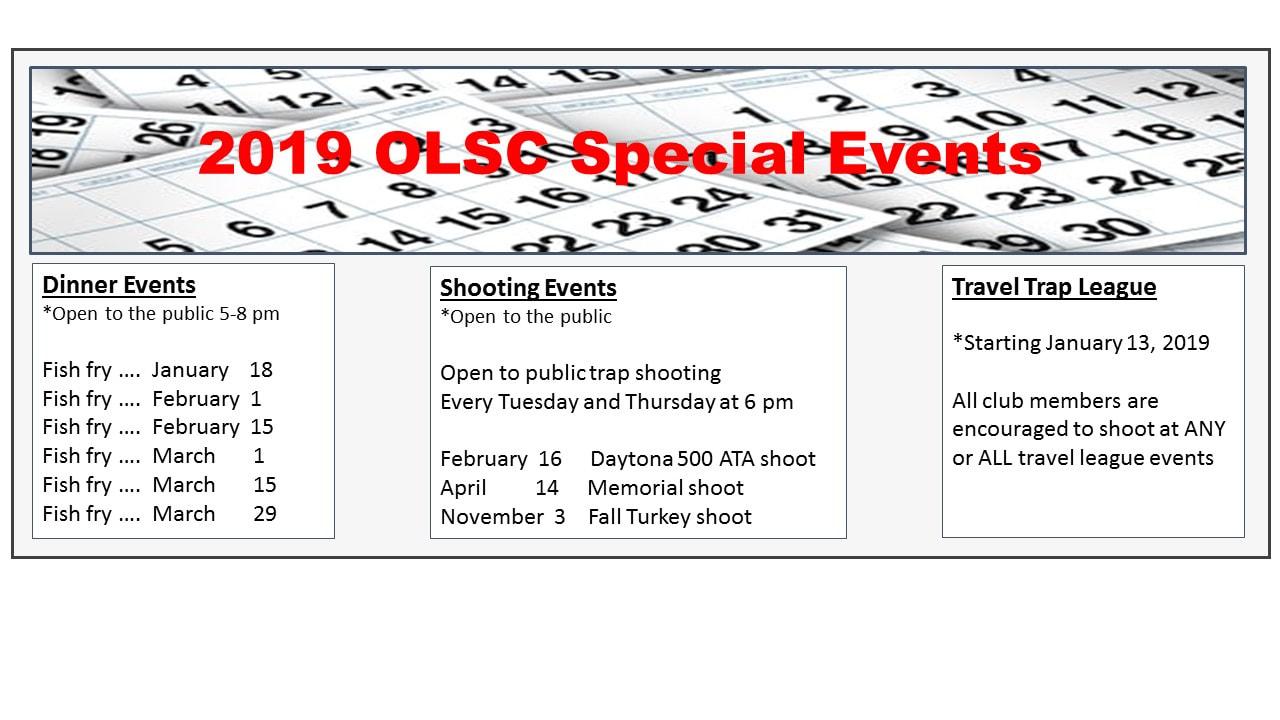 Welcome: Ottawa Lake Sportsmen Club, Events